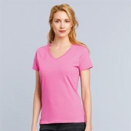 T-shirt col V en coton femme